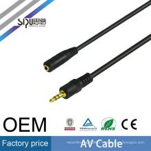 SIPU 3.5mm mâle à femelle stéréo AV câble en gros écouteur jack microphone audio câble meilleur prix av sortie câble