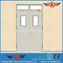 JK-F9050 porta de saída de aço resistente ao fogo resistente com vidro