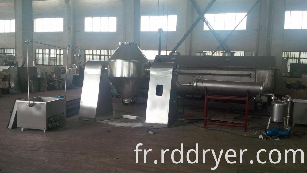 SZG Model Low Temperature Pharmaceutical Intermediates Double Cone Rotary Vacuum Dryer