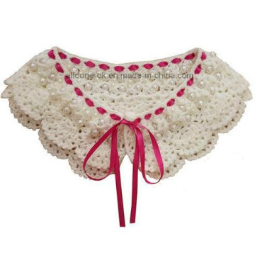 High Quality Hand Crochet Beaded Collar with Lace