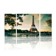 Pintura da lona da lona de Paris Torre Eiffel / para a decoração da parede / arte da parede da lona do Multi-painel