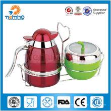 2014 nuevo producto promoción jarra de leche de acero inoxidable de alta calidad con azucarero