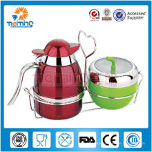 2014 new product Promotion high quality stainless steel milk pitcher with sugar bowl