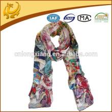 China-Art 12mm Satin Großhandelsdame reiner Silk Schal mit Digital gedruckt