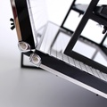 3 tires acrylic metal nail polish racks stand