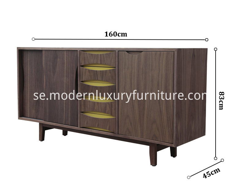 Size of Finn Juhl Walnut Cabinet