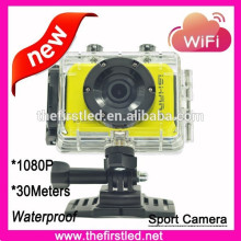 HOT Sale waterproof Full HD 1080P wifi sport camera with battery , similar to SJ4000 sport camera
