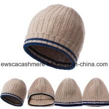 Bonnet tricoté en cachemire chaud d'hiver