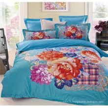Ensembles de couette floraux Queen Size Ensemble de literie 3D Design Wholesale