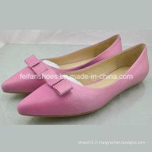 Nouveau style dames chaussures plates chaussures simples chaussures Sandales (4097-C01-B673)