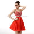 Оптовые Шифон Элегантный Красный Леди Свадебные Платья Формальные Вечернее Платье