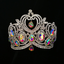 2018 Full Round Big Rhinestones Queen Crown
