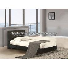 Lit simple en bois, meuble de chambre à coucher