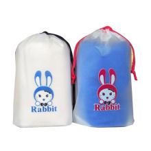 Saco para roupas Saco de compras de plástico biodegradável com cordão