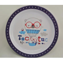 (BC-PM1003) High Quality Reusable Melamine Plate with Print
