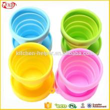 Taza de café de silicona / copa plegable de silicona plegable / taza retráctil