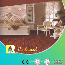 Household 12.3mm Crystal Hickory Sound Absorbing Laminated Flooring