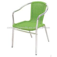 Aluminum rattan bistro chair