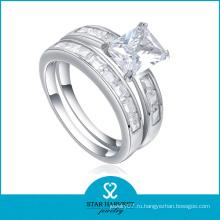 Кольцо из высококачественного имитационного материала из серебра (SH-R0133)