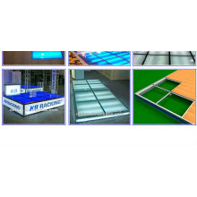 Easy Install Trade Show Flooring System With fluorescent Light