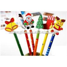 lápis de Natal atacados
