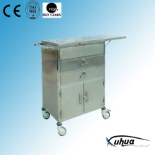 Stainless Steel Hospital Medical Resuscitation Cart (Q-27)
