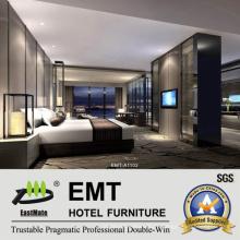 Mobilier luxueux de chambre à coucher d'hôtel (EMT-A1102)