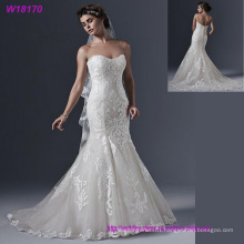 2017 Newest White Trumpet Wedding Bridal Dress with Full Lace