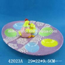 Porte-oeufs en céramique pour oeufs de pâques
