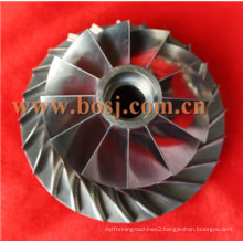 Gt2871 Turbo Billet Compressor Wheel Impeller 452546-0005 / 452546-5 Gt2871r 53.11*70.98 Trim 56 11+0 Blades Factory Supplier Thailand