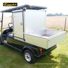 Fertigen Sie das elektrische Golfwagen-Klumpenauto Golfkarren-Gebrauchsfahrzeug des Behälters 2 Sitzer besonders an