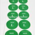 etiqueta más barata del tamaño del fabricante de la etiqueta engomada de la ropa de papel