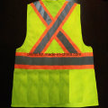 Safety Vest with Reflective Caution Band 100%Polyester Knitting Fabric and Mesh