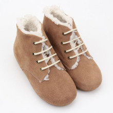 Baby Leather Booties Winter Snow Hard sole Kids Boots