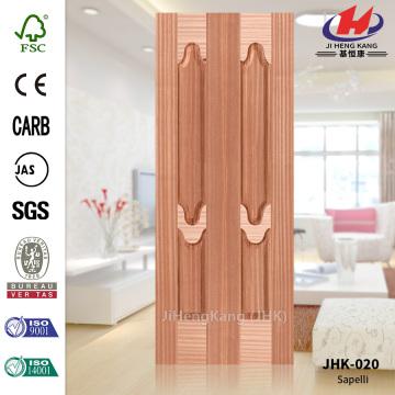 Glass Sapele Wood Veneer Cellar Door Skin