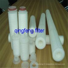 Cartouche filtrante plissée par 3.0Micron pp pour le traitement de l'eau