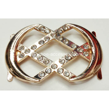 Zinc Alloy Women Shoes Ornament, Rhinestone Shoe Buckle