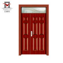 Portes d'entrée en acier en bois, respectueuses de l'environnement et respectueuses de l'environnement