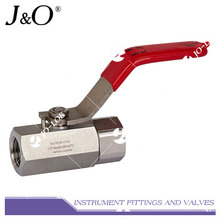 Válvula de esfera de instrumento de estoque de alta pressão de 6000 psig