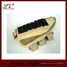 Tactical Shotgun Airsoft Rifle Ammo Pouch joue Pad Gun sac Tan