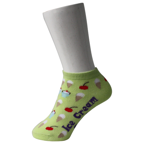 Light Green Kid's Boat Socks