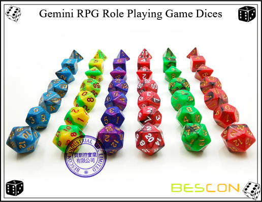 Gemini RPG Dice Set-5