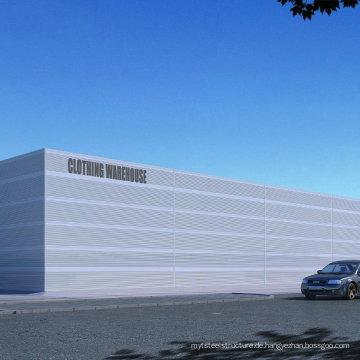Prefab Large Span Stahlbau Gebäude / Werkstatt