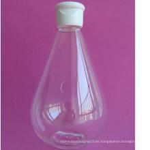 16.7oz Agua gota forma Pet botella con tapa superior Flip