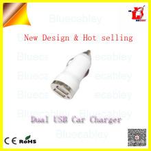 5V1A 2 port usb bullet chargeur voiture pour téléphone portable