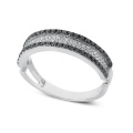 Fashion Diamond Ring Band 925 Bijoux en argent sterling