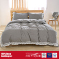 100%Linen Bedding Set With Stone Washing in Grey, White, Pink Color