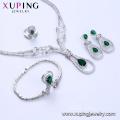 Set-59 Xuping Modeschmuck, China Großhandel Rhodium überzogener Luxussatz