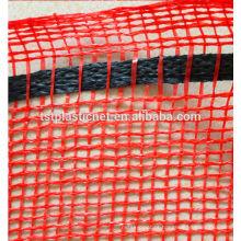 Malha de empacotamento alaranjado do malote do monofilamento de 2014 Hdpe (rede plástica de Hebuos Tuosite)