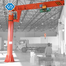 Pillar fixed jib boom crane, Electrical hoist crane 500kg